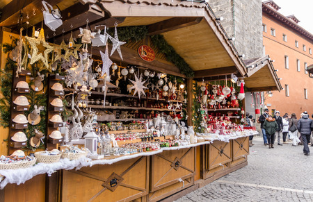 The Christmas markets located in the historical centre of Vipiteno, Italy Editorial