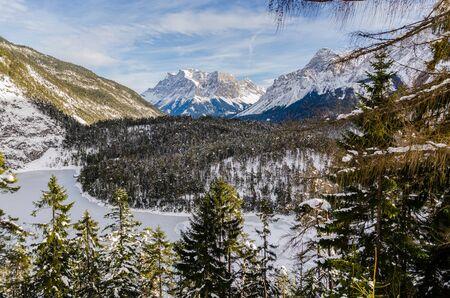 tirol: View over Fernsteinsee in Tirol Austria