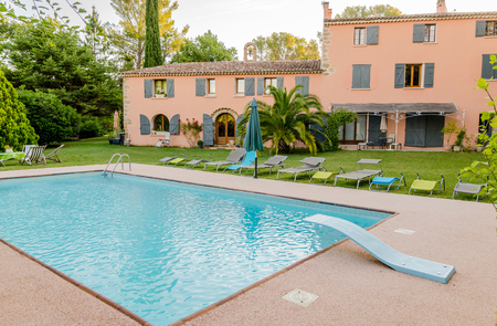 french countryside: A house in the French countryside in Provence, France