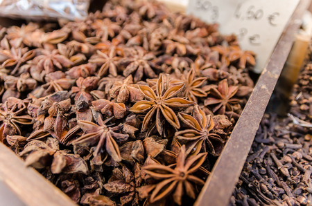 french ethnicity: Dried Anise in a souvenir shop in Nice, France Stock Photo