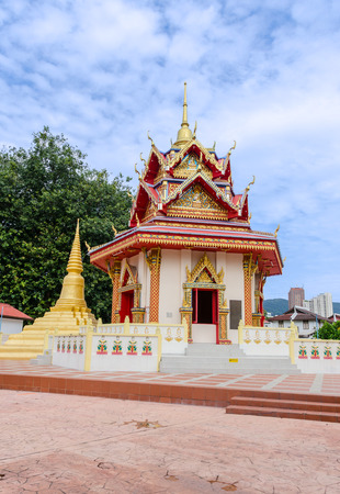 godliness: Wat Chayamangkalaram or Thai Buddhist Temple  Penang Malaysia Stock Photo
