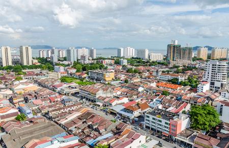 penang: Skyline of Georgetown in Penang, Malaysia.
