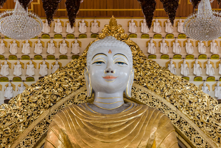 historic world event: Buddha of Dhammikarama Burmese Temple in Penang, Malaysia