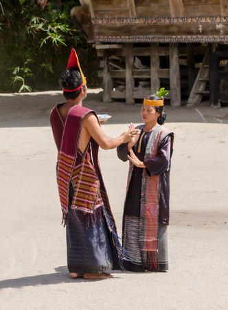 sumatra: Batak people of Samosir Island perform their traditional dance in Sumatra, Indonesia.