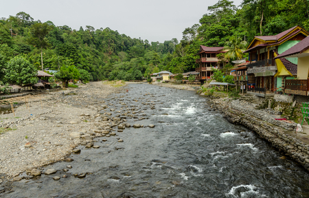 sumatra: The village of Bukit Lawang in Sumatra, Indonesia