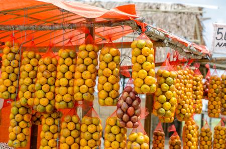 sumatra: Oranges stall in Northern Sumatra, Indonesia