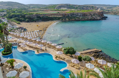 View of Golden Bay from Hotel  Malta