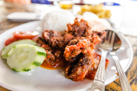 Sapi Goreng Sambal or Meat with Sambal sauce