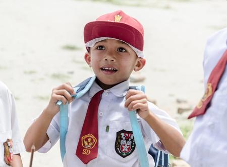 Indonesische schoolkinderen in Samosir, Sumatra Indonesië Stockfoto - 53088490