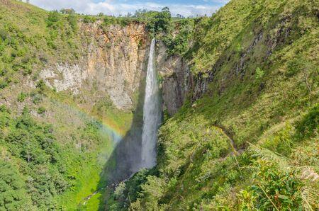 sumatra: Sipisopiso waterfall in Northern Sumatra, Indonesia