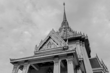 wat traimit: Exterior of Wat Traimit or Temple of the Golden Buddha in Bangkok, Thailand Stock Photo