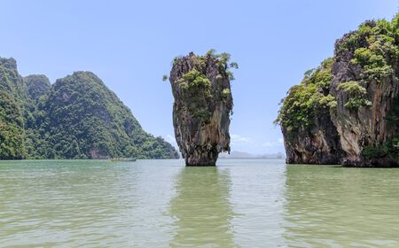 james bond's island: James Bond Island in Phang Nga National Park in Thailand
