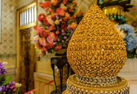 wat traimit: Wat Traimit or Temple of the Golden Buddha in Bangkok, Thailand