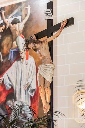 kruzifix: Kruzifix in einer christlichen Kirche