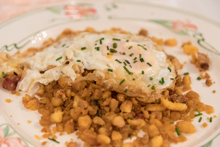 castellana: Castellana Migas, a typical spanish dish - Toledo, Spain