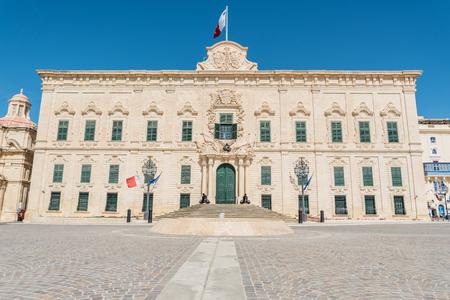castille: Auberge de Castille in Valletta, Malta Editorial