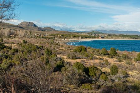 Views of Lago Nahuel Huapi in Rio Negro Province, Argentina Stock Photo