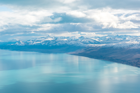 calafate: Aerial view of Lago Argentino in Santa Cruz Province, Argentina Stock Photo