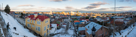 Generic view of the skyline of Punta Arenas in Chile