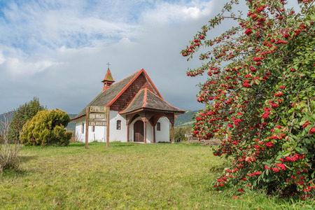 adentro y afuera: A chapel in the countryside near Puerto Varas, Chile