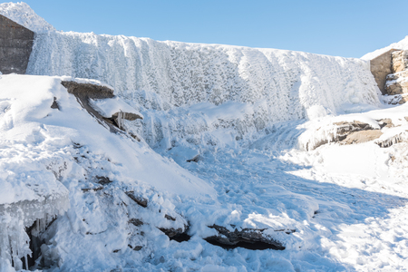 Frozen Waterfall in Livigno, Italy
