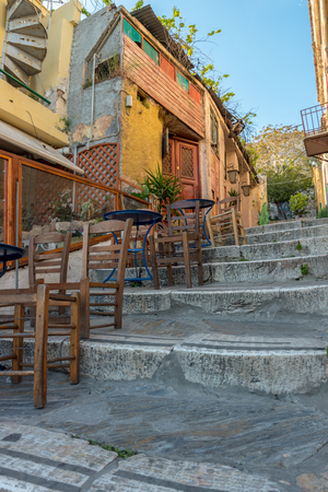Plaka district in Athens, Greece
