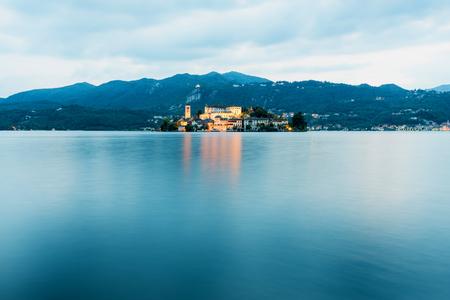 Island of San Giulio on Lago d'Orta in Italy