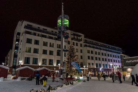 Centre of Rovaniemi in Lapland, Finland