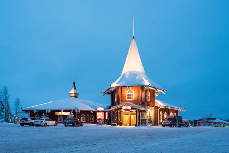 Santa's Village in Rovaniemi, Finland Редакционное