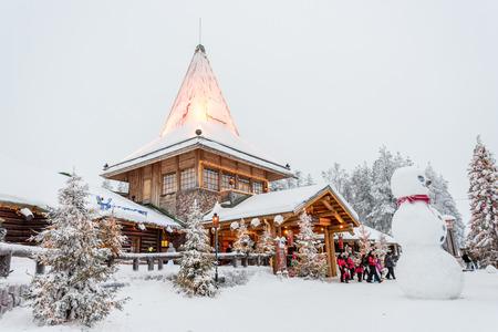 Santa's Village in Rovaniemi, Finland Editorial