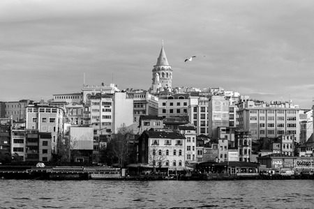 Skyline of Istanbul featuring the Galata Tower in Turkey