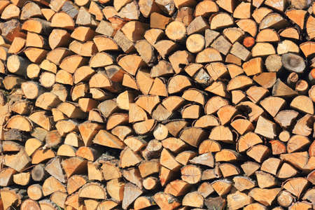 sawn: Sawn wood stacked on each other in a