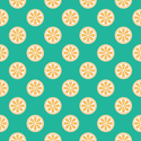 Vector orange seamless pattern. Illustration on blue background