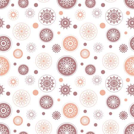 estrellas de navidad: Copo de nieve patrón sin fisuras. Ilustración de vacaciones con elementos de colores sobre fondo blanco