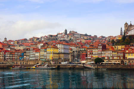 oporto: view of Porto, Portugal from river