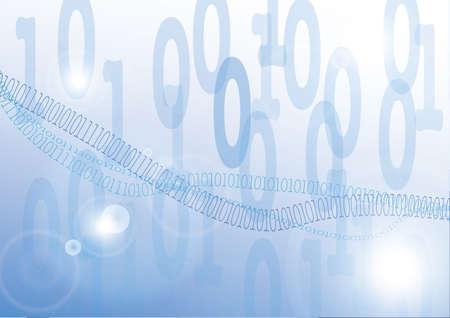 digital auf blauem Hintergrund Illustration
