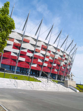 Entrance to National stadium, Warsaw, Poland Editorial