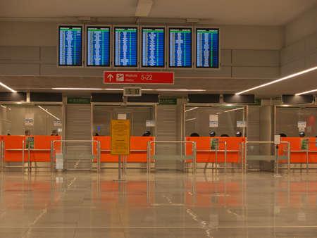 Flughafen P�sse Einwanderungskontrolle Sicherheit Schreibtisch, keine Werbematerialien