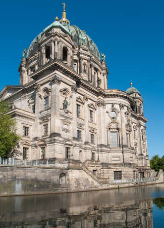 Berlin Cathedral reflected on Spree river  photo