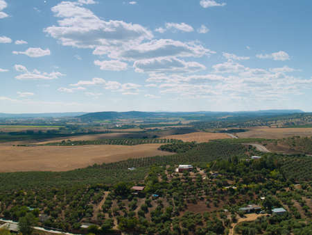 Rural landscape frome above of southern Spain, Andalusia photo