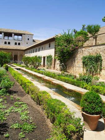 Gardens of Alhambra palace, Granada, Spain
