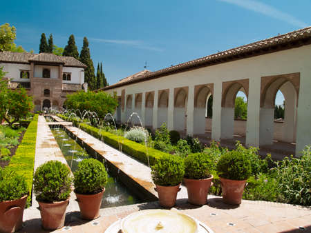 Gardens of Alhambra palace, Granada, Spain