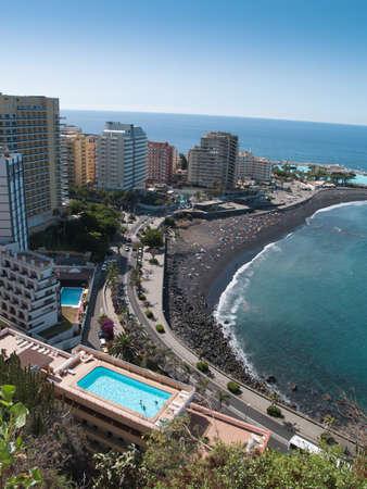 Str�nde und Hotels von Puerto de la Cruz, Teneriffa, Spanien