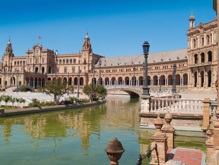 Plaza de Espana (Square of Spain) in Seville, Andalusia photo