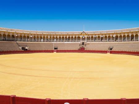 Stierkampfarena von Sevilla, Andalusien, Spanien
