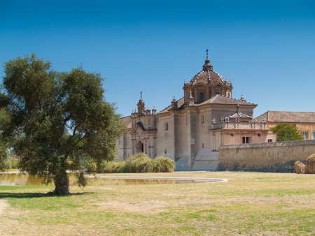 Kloster der Cartuja-Kloster Santa Maria de las Cuevas Charterhouse, heute ein Museum f�r zeitgen�ssische Kunst, ex Ceramic Ziegelei Sevilla Spanien Editorial
