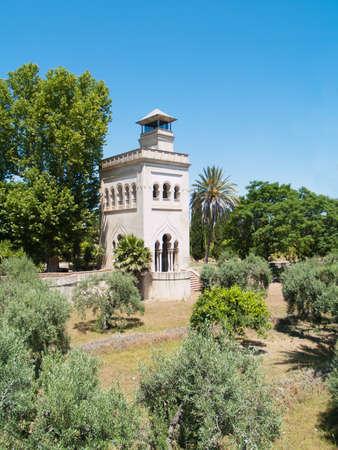 Torre en el jard�n del monasterio de oliva Cartuha construido en 1560, Sevilla, Andaluc�a, Espa�a photo
