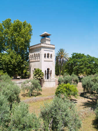 Tower in olive garden of Monastery of Cartuha  built in 1560 , Seville, Andalusia, Spain photo