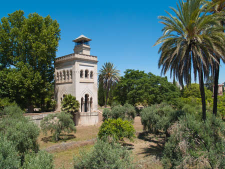 Tower in olive garden of Monastery of Cartuha  built in 1560 , Seville, Andalusia, Spain
