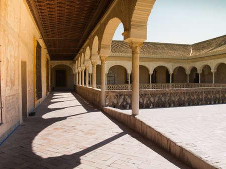 Galleries of Casa de Pilatos  built in 1519 , Seville, Andalusia, Spain